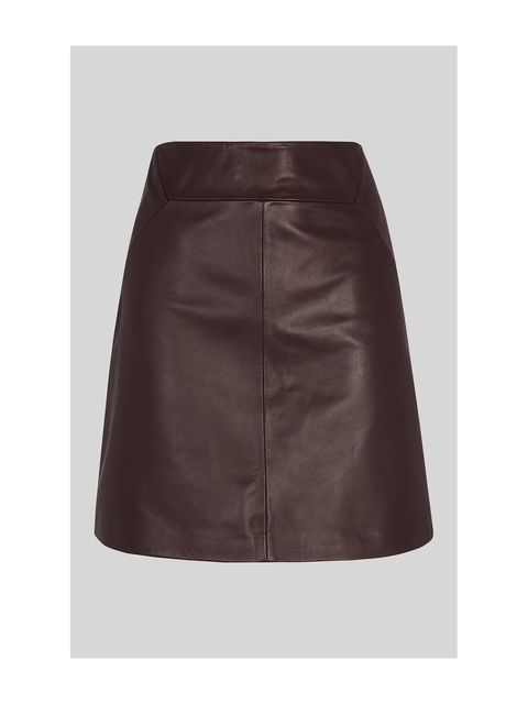 be1ab3b953a1 Leather A Line Skirt | Endource