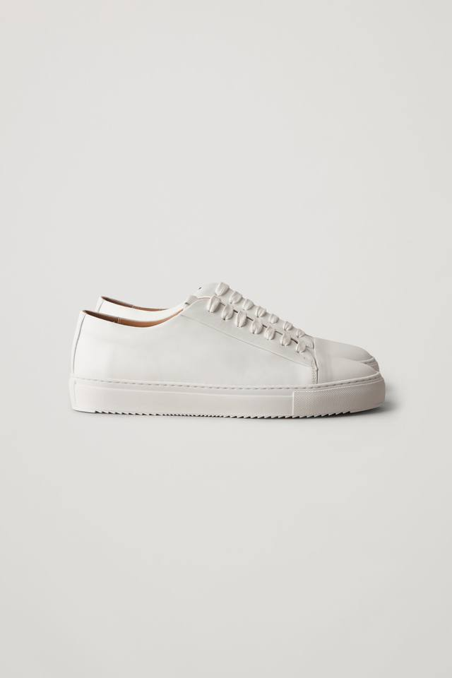 Thick-soled Leather Sneakers   Endource