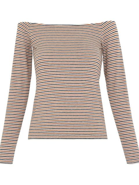 95b17e4eadb5c Multi Stripe Bardot Top