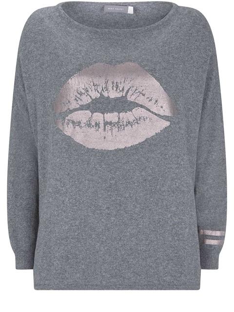 ef915c260161 Granite Lip Foil Printed Knit | Endource