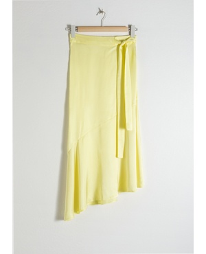 b4b54915d7c04f Asymmetric Satin Midi Skirt by & Other Stories