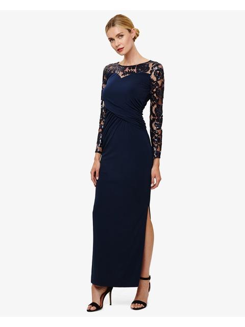 9cc2b5d10c2f2 Daniela Sequin Sleeve Maxi Dress