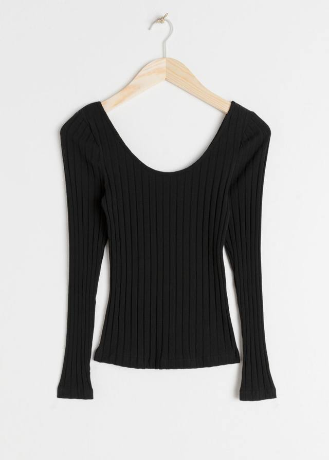 08e0eea5b4403 Fitted Scoop Neck Cotton Top