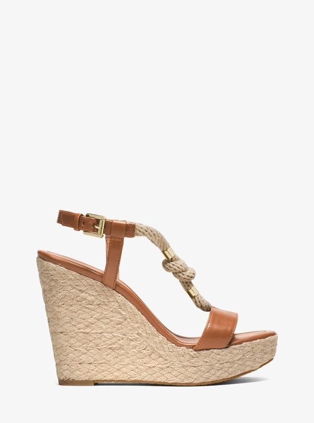 d5e3f8ceb243 Holly Rope-Trim Leather Wedge