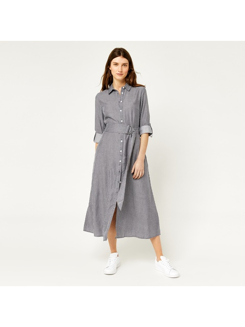 d90f6cec8a4d Stripe Midi Shirt Dress