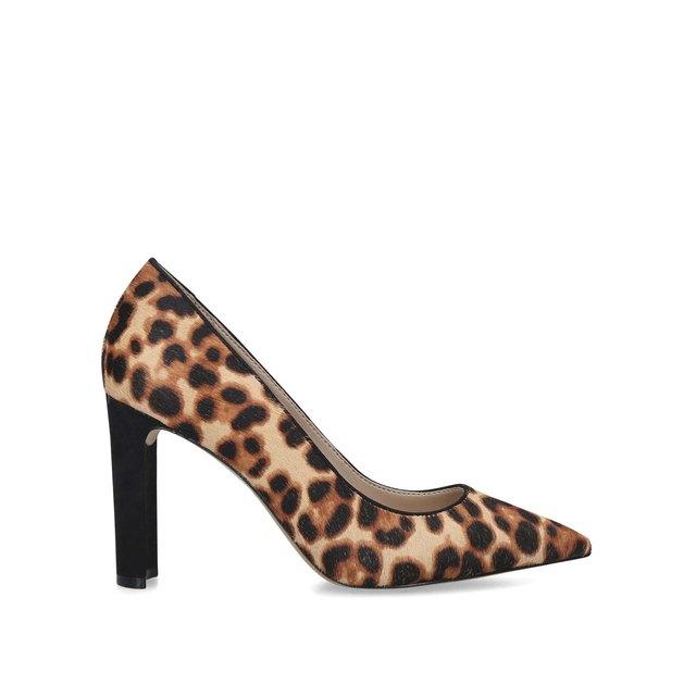 Febriclya Leopard Print Block Heel
