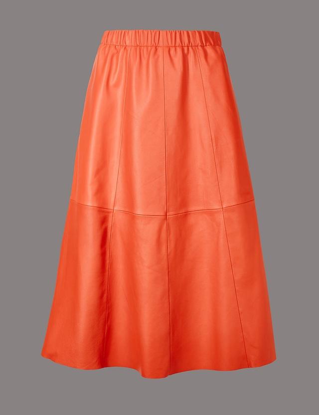 leather a line midi skirt endource