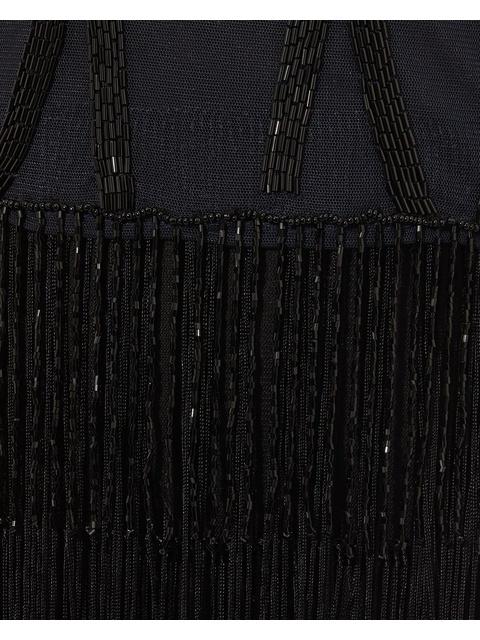 07a1fcfe572 Viola Fringe Embellished Maxi Dress