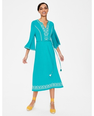 a721695cb62 Remi Embroidered Midi Dress by Boden