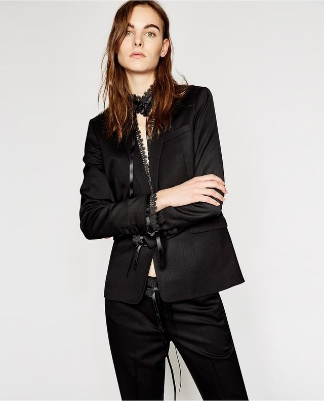 bc026f3fbf4 Lace Detailing Suit Jacket | Endource