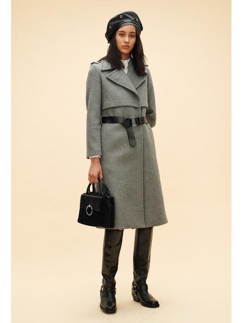 e183e26095fe Long Belted Wool Coat | Endource