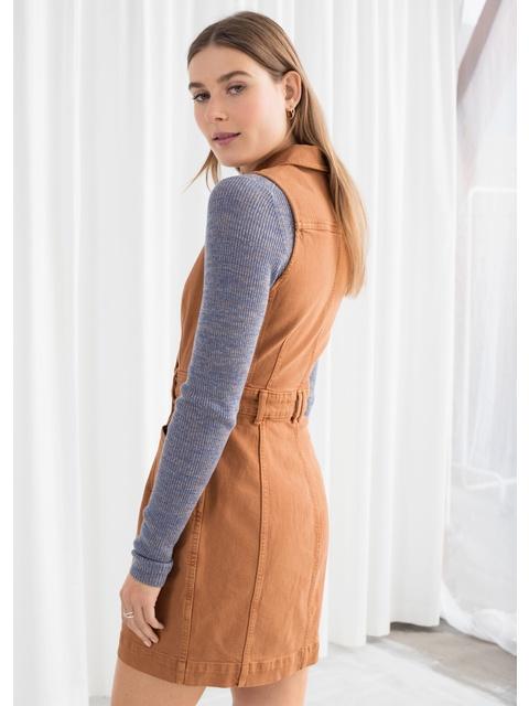 450545306e Sleeveless Denim Mini Dress