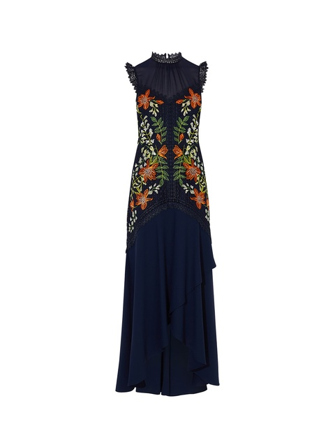 Floral Embroidered Gown | Endource