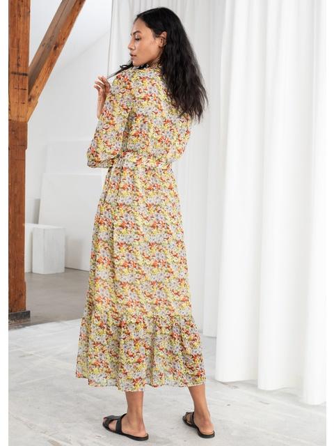 1ff14394b6 Floral Ruffled Maxi Dress | Endource