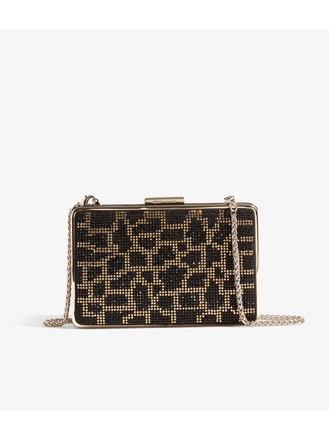 8a99c329e4 Leopard Embellished Box Clutch | Endource