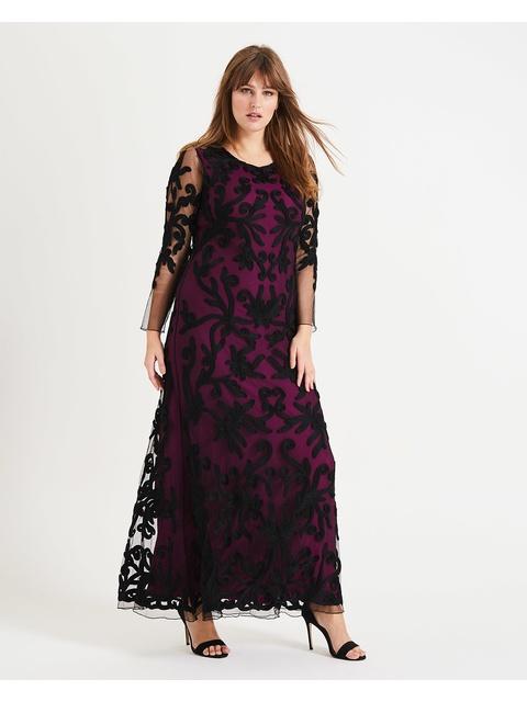 813af1edc5e Jenna Tapework Maxi Dress