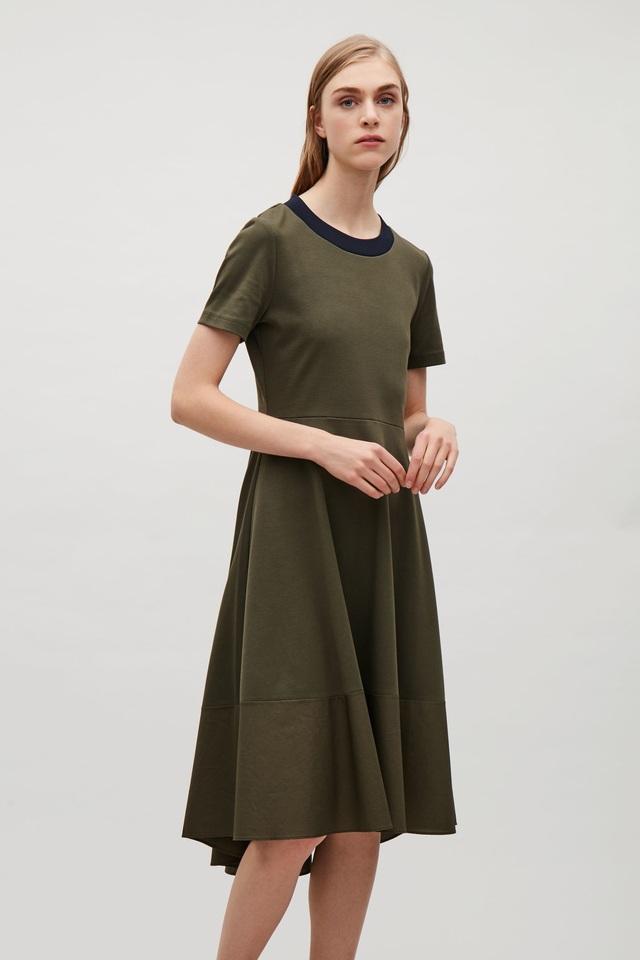 f7840ed5f5aa Woven-panelled Jersey Dress | Endource