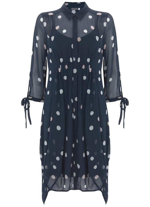 Brynn Print Cocoon Shirt Dress Endource