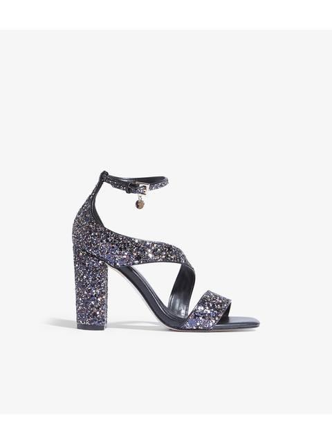 3d0c3fe42a Glitter Block-Heel Sandals   Endource