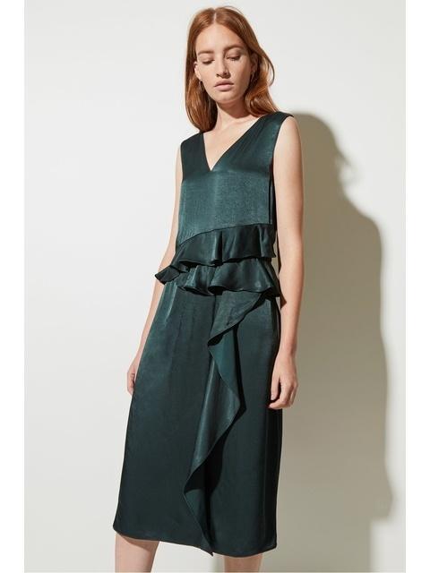 6af110f7627 Sarah Frill Asymmetric Dress