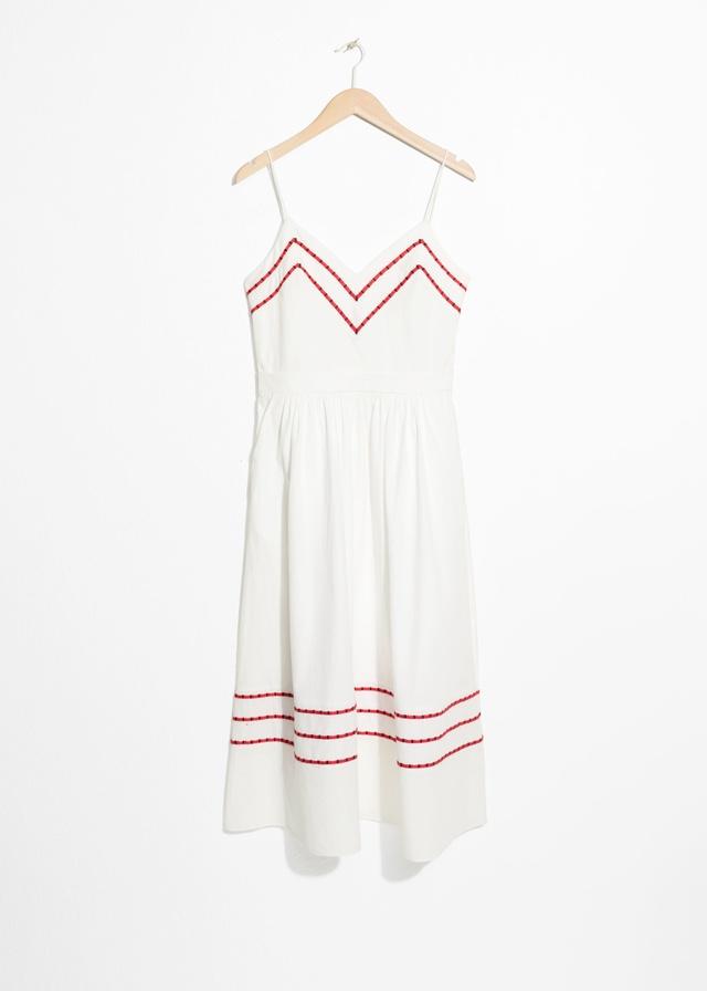 60872e429d Chevron A-Line Cotton Dress