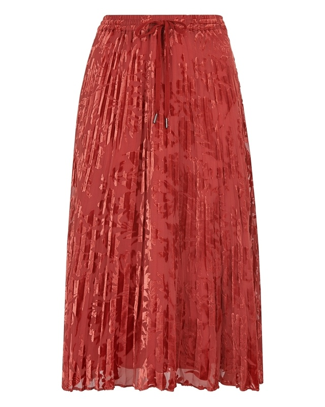 2e2480eec7 Harlow Pleated Devore Skirt | Endource