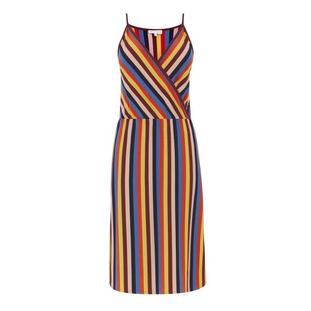 c4b9f17917 Rainbow Stripe Cami Wrap Dress   Endource