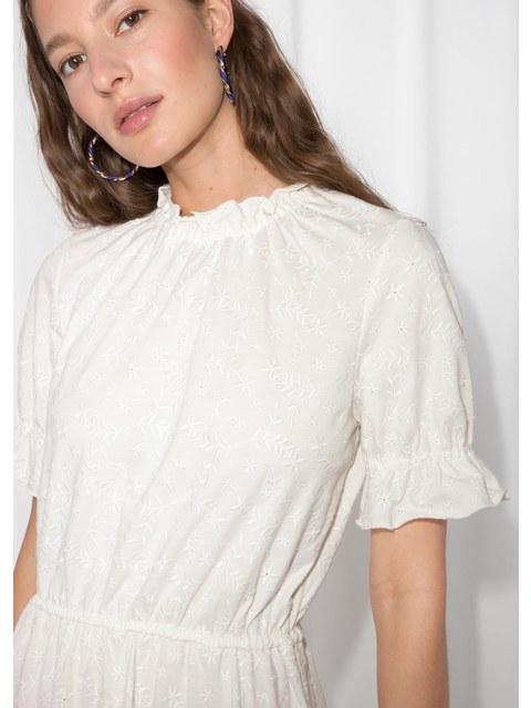 9ec52ef00 Embroidered Eyelet Ruffled Dress   Endource