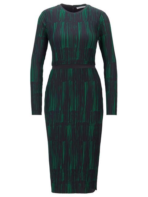 4e95f850526a Collection Print and Plissé Detail Dress