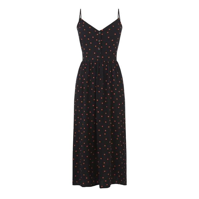 10f0ee9ce6ec Polka Dot Cami Midi Dress | Endource