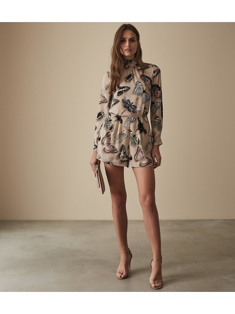 a77a17eb0d Gail Butterfly Printed Playsuit
