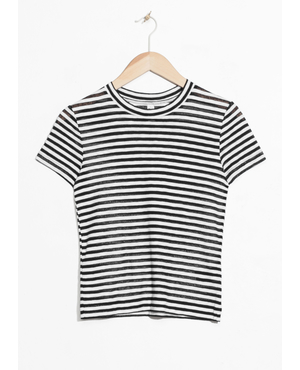 91517b06adc6e Sheer Striped T-shirt by   Other Stories