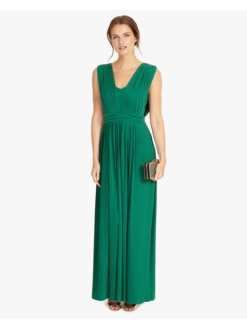 9aed71c0489 Aldora Pleat Maxi Dress