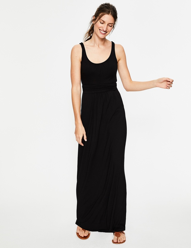 Maxi dress with jersey
