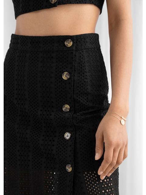 1f867c4ca Cotton Dobby Pencil Midi Skirt | Endource