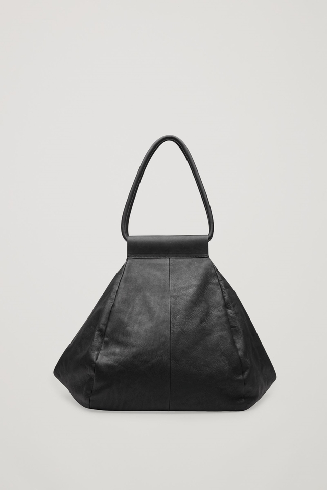 Folded Leather Tote Bag Endource