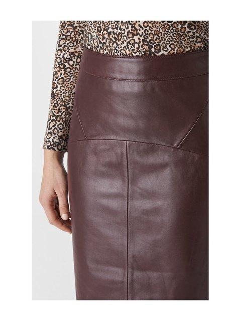 6d6967d05b4b Kel Leather Pencil Skirt