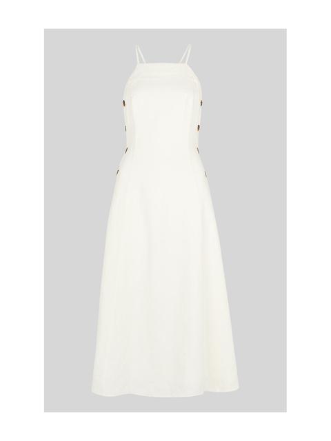 356415a1b7 Nina Button Linen Dress