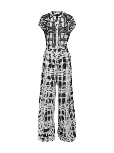 ee7bb7dd43 Natascha Checked Wide Leg Jumpsuit