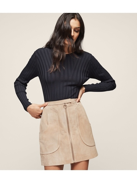 01ffdd116 Keaton Suede A-Line Mini Skirt | Endource
