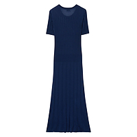 GANT Knitted Rib Dress - Persian Blue GANT New Styles Sale Online Outlet Store For Sale LIELfIy
