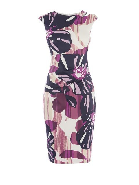 27c924f28e Floral Cut-out Pencil Dress | Endource