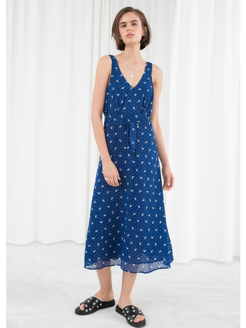 32f5c24dc70b Printed Belted Midi Dress   Endource