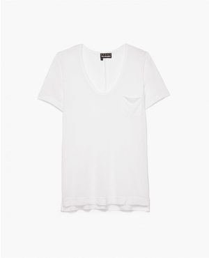 aac9341caa T-Shirt with a Deep Neckline by The Kooples