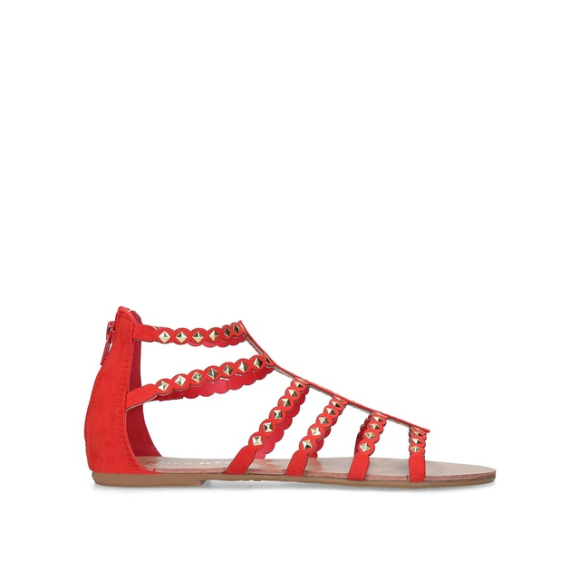 Red 'Raina' flat sandals cheap sale limited edition fLtsS3gAt