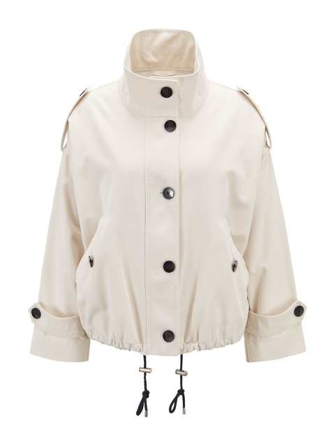 6e38673a Relaxed-Fit Jacket with Contrast Buttons   Endource
