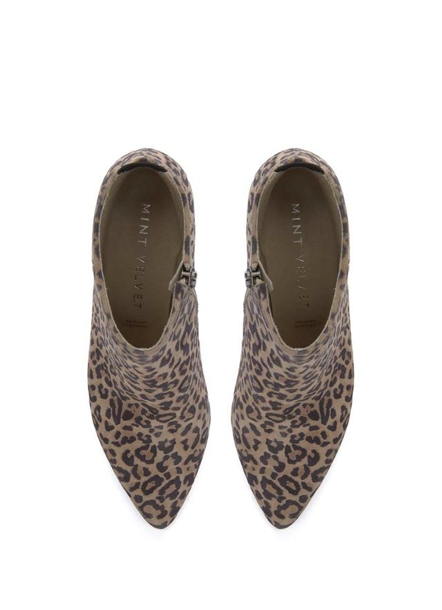 Nine West In The Nigh Pumps Grey Animal Leopard Print Kitten Heel Pump