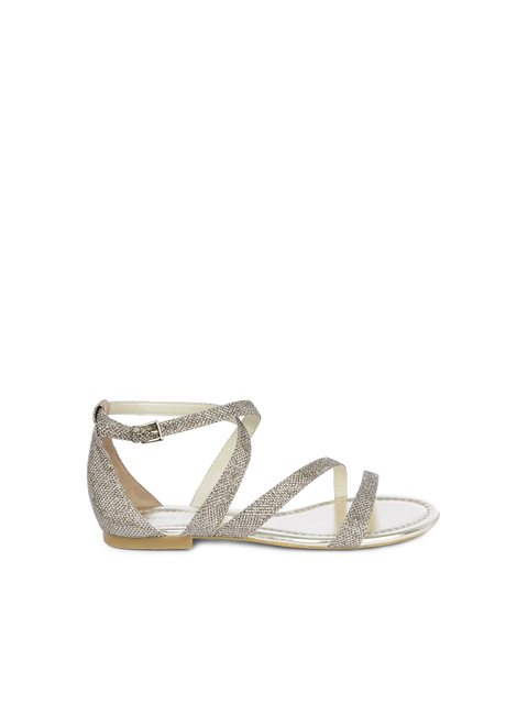 8ede3841dd Glitter Flat Sandals   Endource