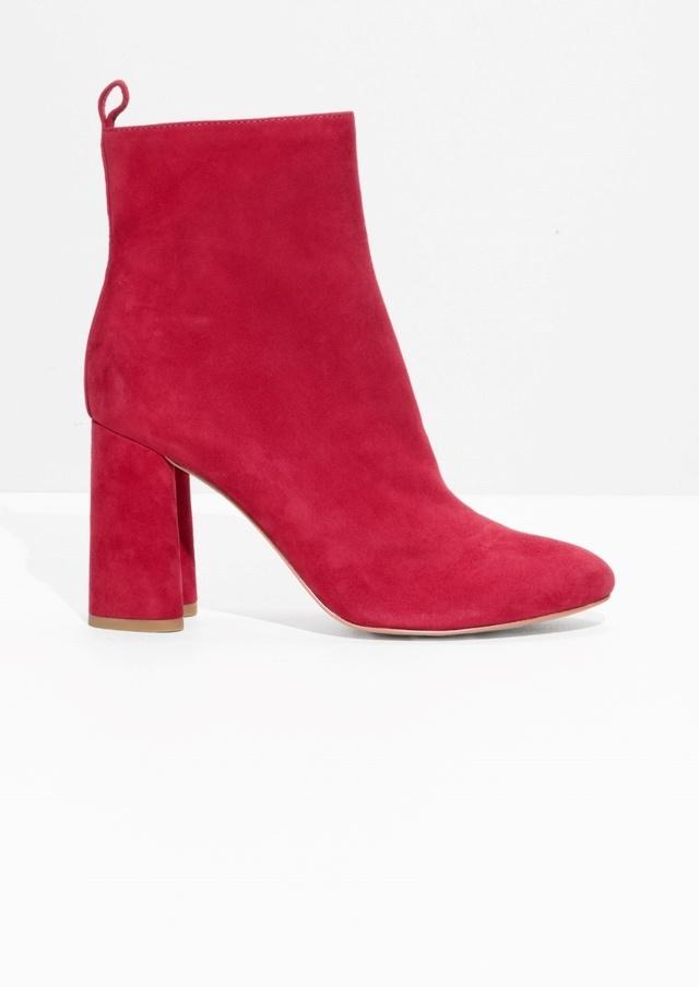 sculpted heel suede boots endource