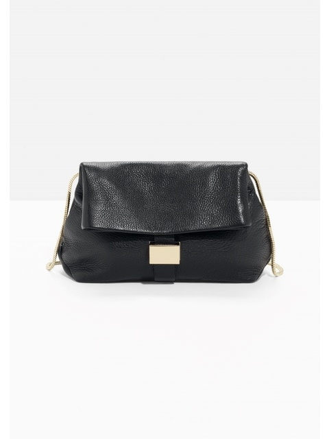 956eed2a42 Small Leather Fold-Over Bag
